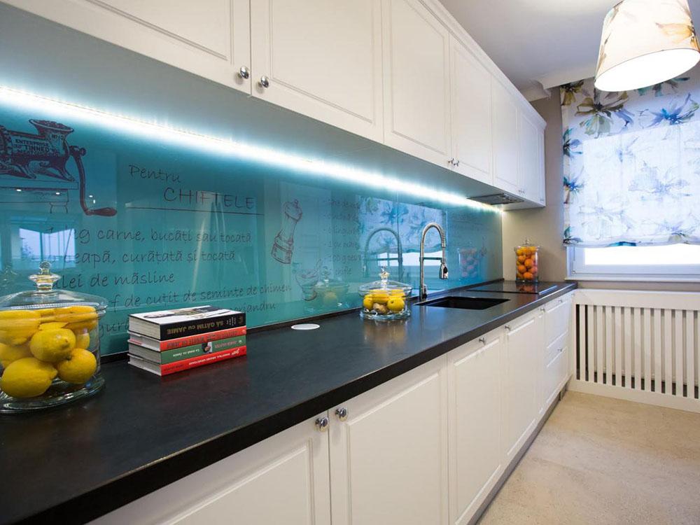 обрезала, дизайн фартука на кухню под стеклом фото вариантом является